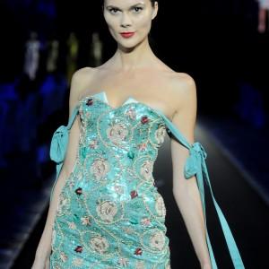 azure green dress