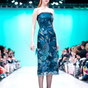 blue chinese style dress