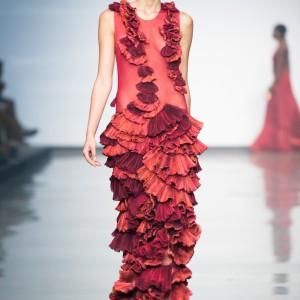 red pirk dress